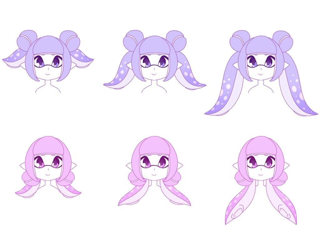 ⭐️inkling Hair Styles Part 1⭐️ Splatoon Amino