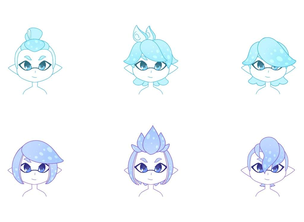 ⭐️ Inkling Hair Styles Part 2 ⭐️ Splatoon Amino