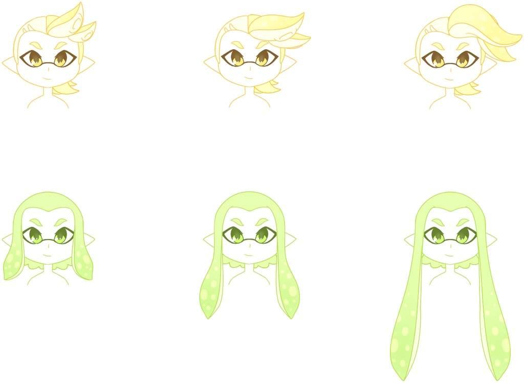⭐️ Inkling Hair Styles Part 2 ⭐️ Splatoon Amino