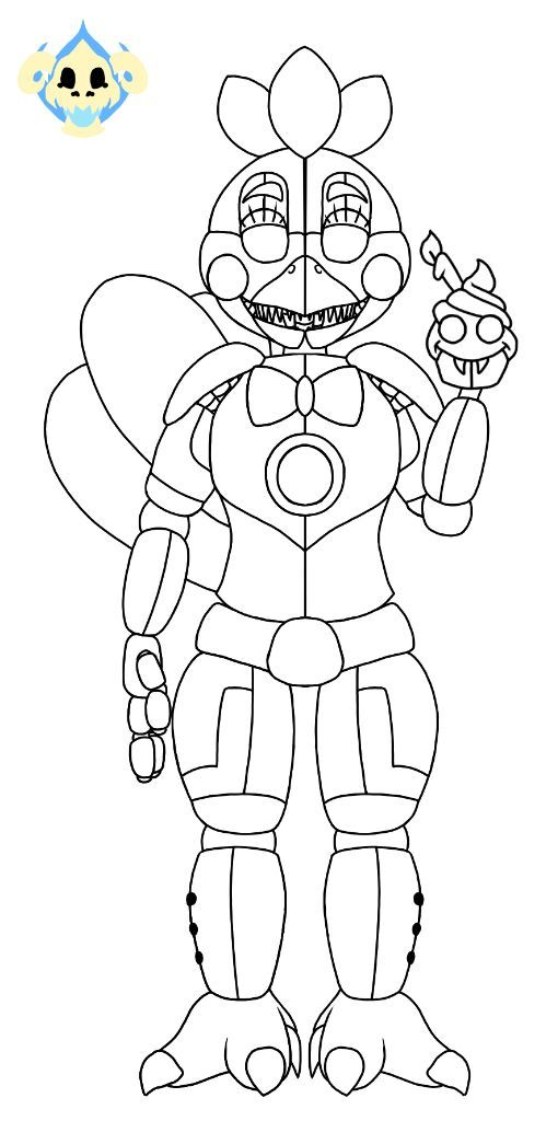 fnaf coloring pages chica - photo#22