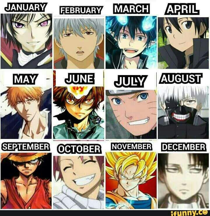 Anime Characters Born On November 6 : Which character are you anime amino