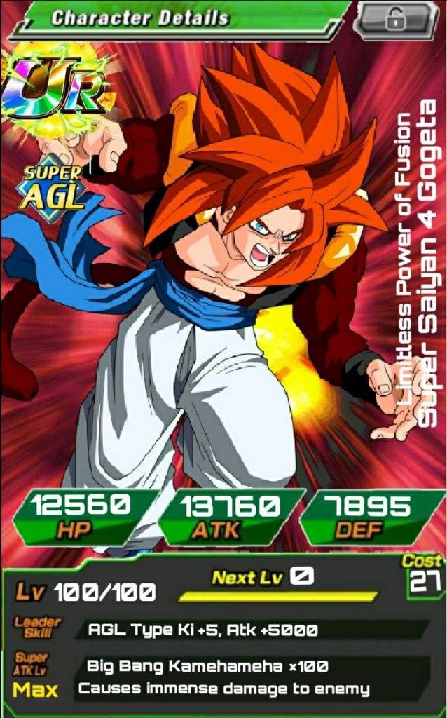 My First Custom Card Ssj4 Gogeta Dokkan Battle Amino