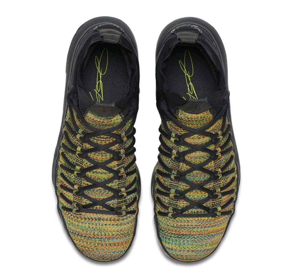 cbca79148e3c KD came hard on these kicks coming with a Flyknit bright multicolor upper