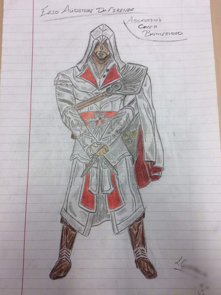 Ezio Brotherhood Drawing Assassins Creed Amino Amino
