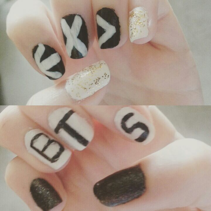 EXO X BTS Nail Art | EXO (엑소) Amino