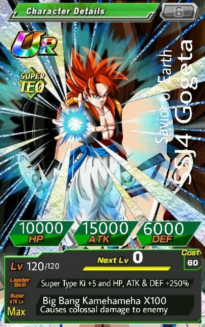 My Ssj4 Gogeta Dokkan Battle Amino
