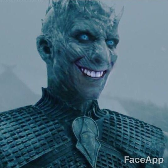 Game Of Thrones The Night King 1 10 Scale: Fun With FaceApp (warning: Horrifying Content)