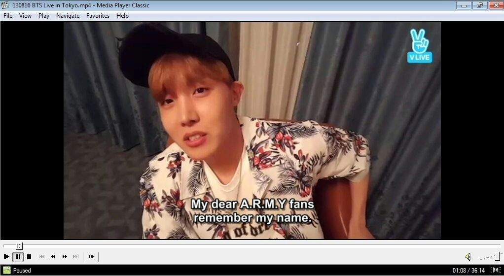 TRANS] What happened at J-Hope's VLive? (160813 BTS Live in