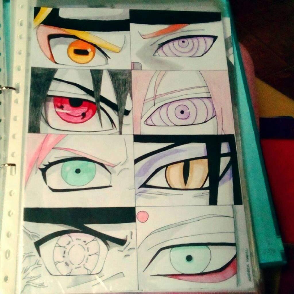 Dibujando...Ojos En Naruto