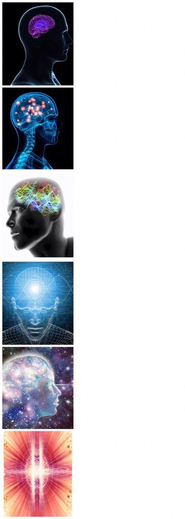 expanding brain meme template