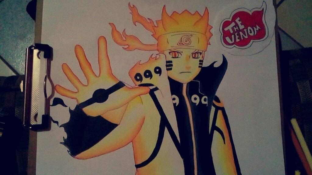 Dibujo De Naruto Modo Chakra Naruamino Amino