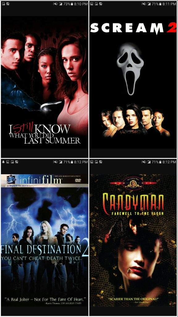 Scream 2 vs i still know what you did last summer vs final