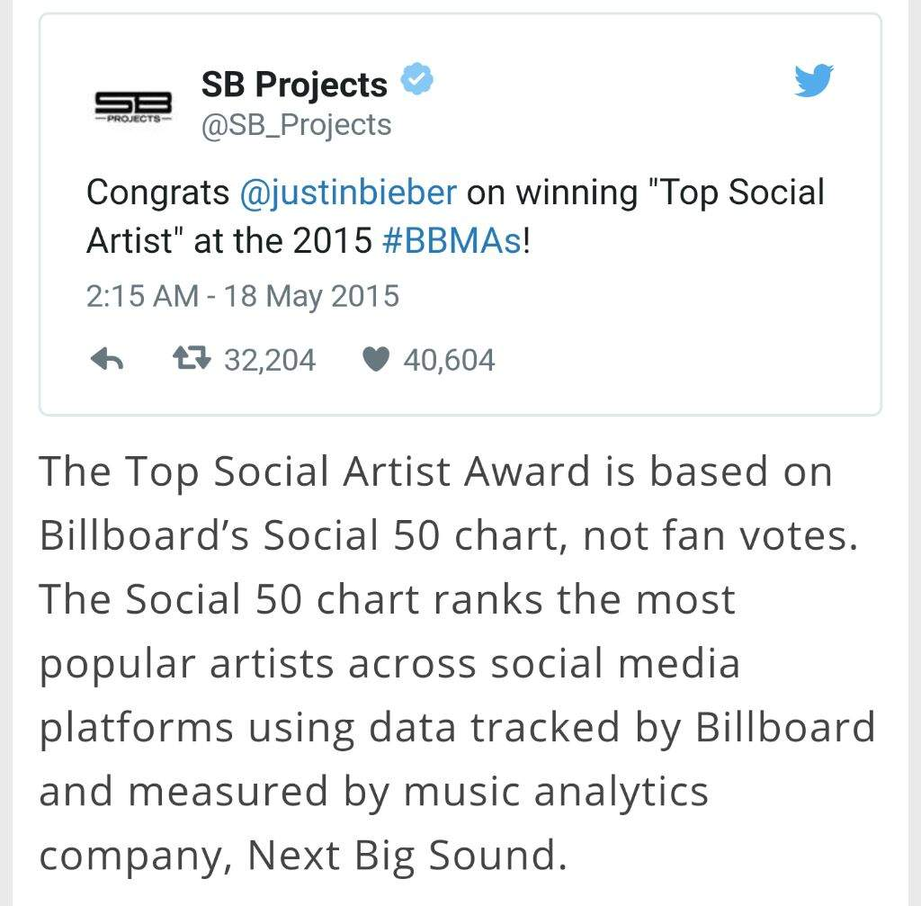 BTSBBMAs - Don't worry about the JB fans mass voting rumor