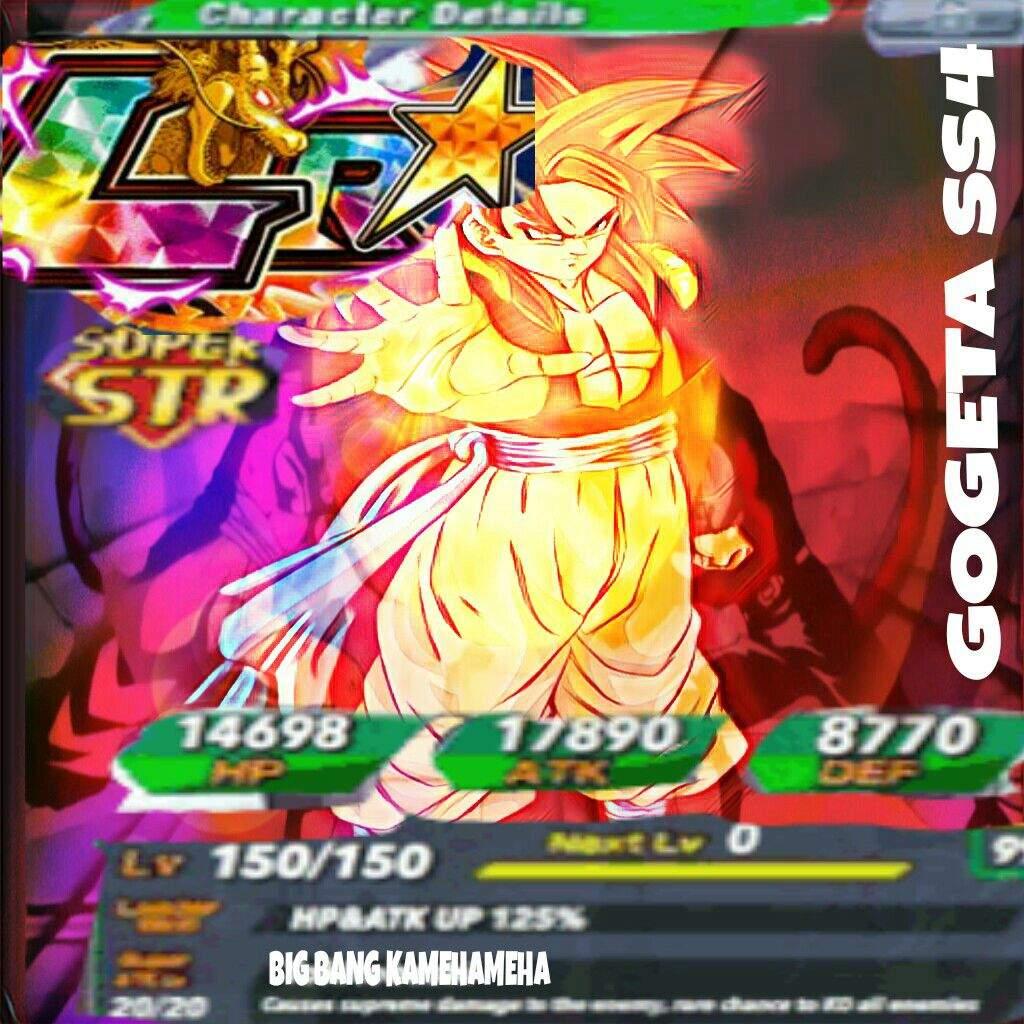 Gogeta Ssj4 Dokkan Battle Edit Dragonballz Amino