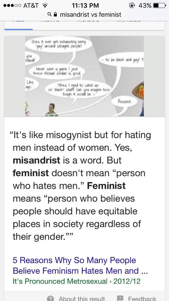feminism vs misandry