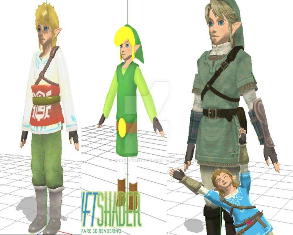 made models look like botw | Zelda Amino