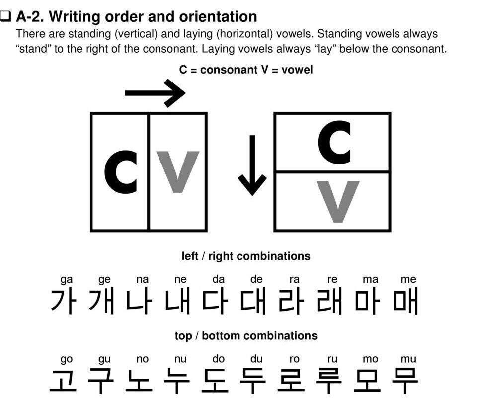 Korean class 1 koreanfromzero book 1 armys amino writing order and orientation buycottarizona Choice Image