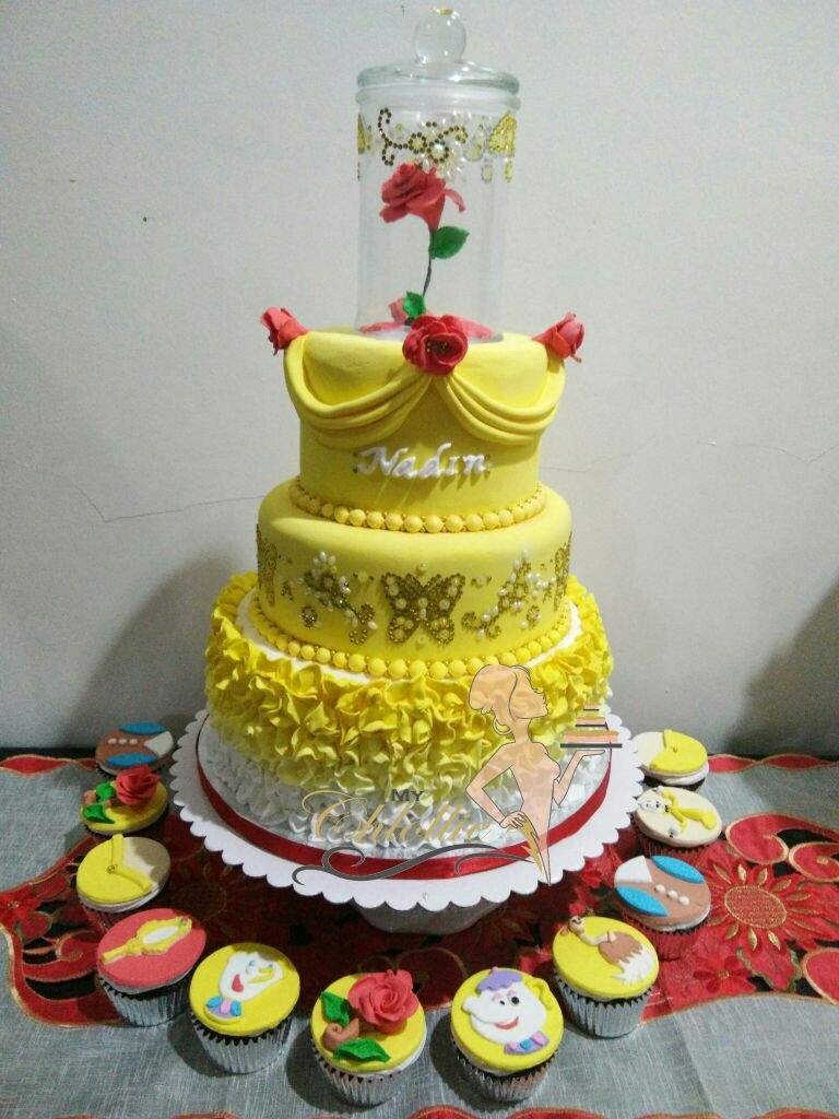 Beauty and the Beast Cake and Cupcakes Baking Amino