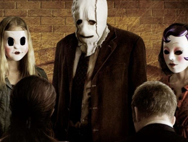 the strangers white mask its my favorite character in the movie still looked dope when i had the full costume on if i find the pic ill post