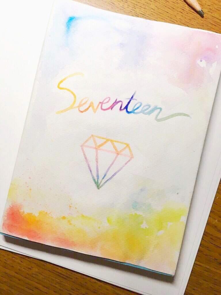 💎Diy Book Cover w/ watercolor💗   Carat ❲캐럿❳ Amino