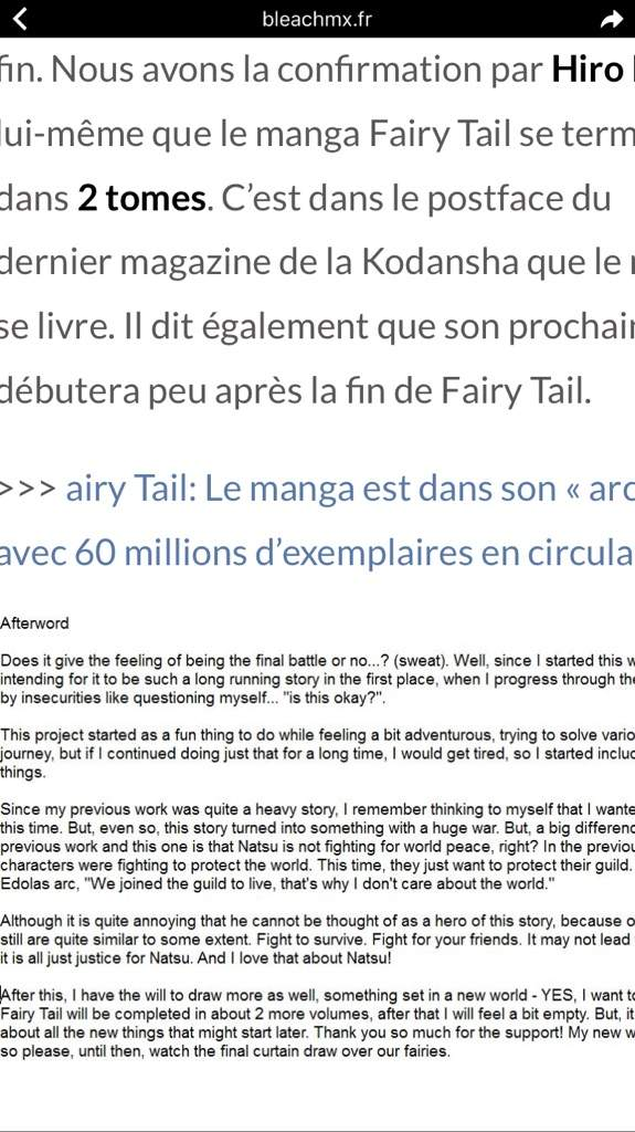 Fairy Tail Will End In 2 Volumes Anime Amino