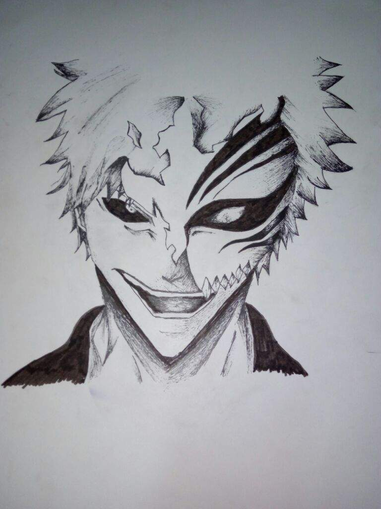 First Time Attempted Drawing Ichigo From Bleach