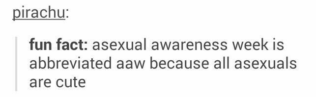Asexuals tumblr