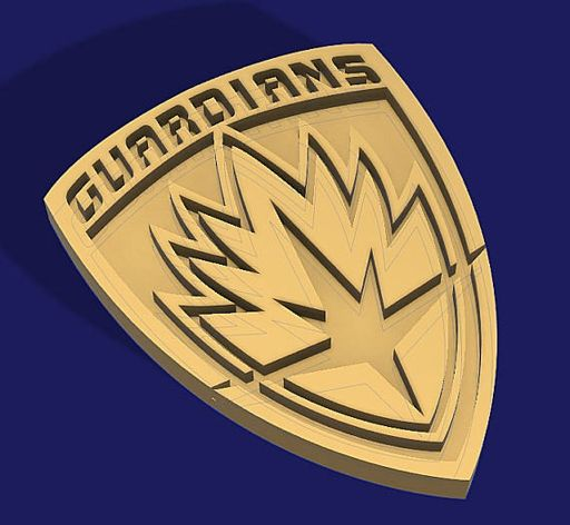 Guardians of the Galaxy - Prop Badge for Cosplay - STL File for 3D
