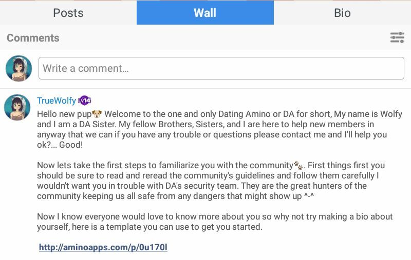 How to use the bio link in new member welcome messages dating amino this should take you to this pre made bio template made by the great emiko one of our fabulous leaders once there tap on the yellow pin icon this will add maxwellsz