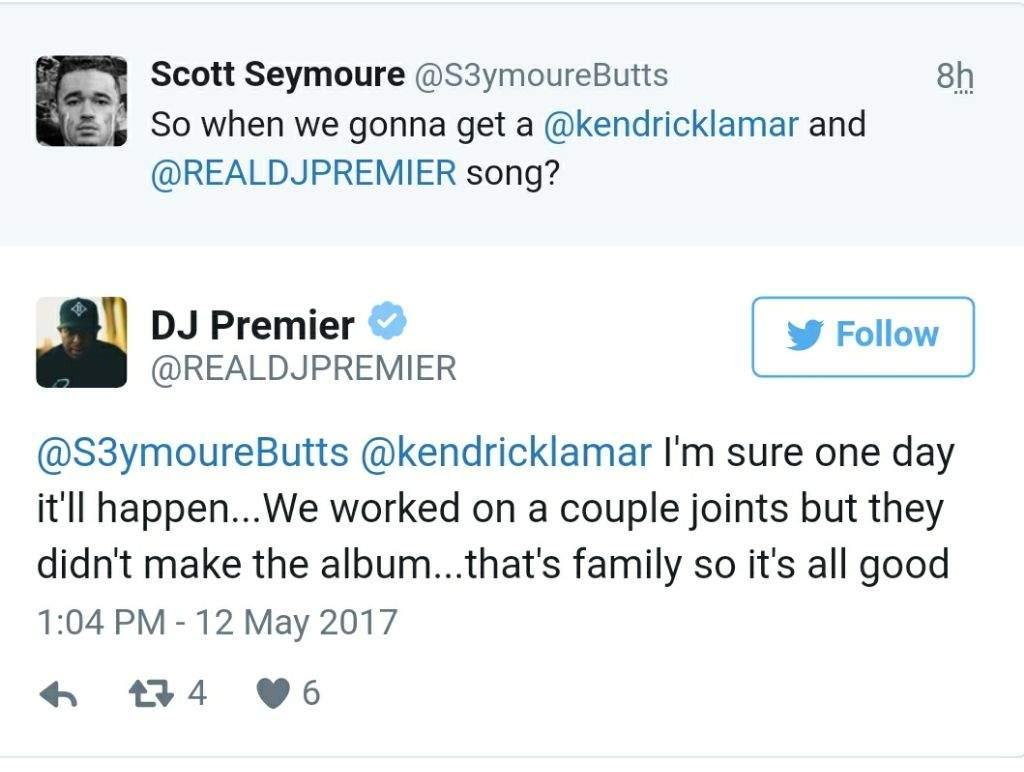 DJ Premier Says He Has Some Unreleased K Dot Collabs   Hip