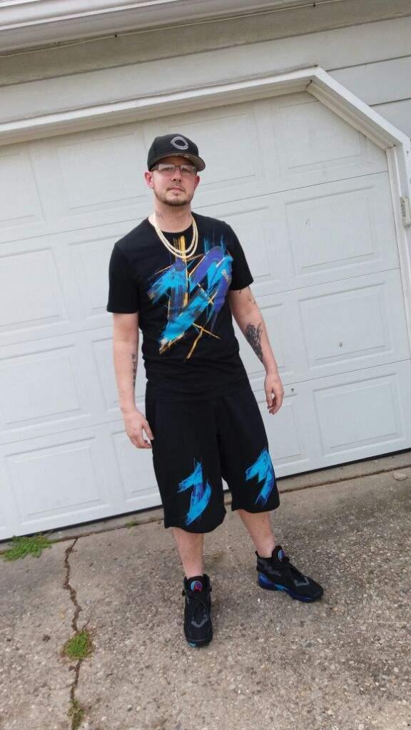 aqua 8s outfit