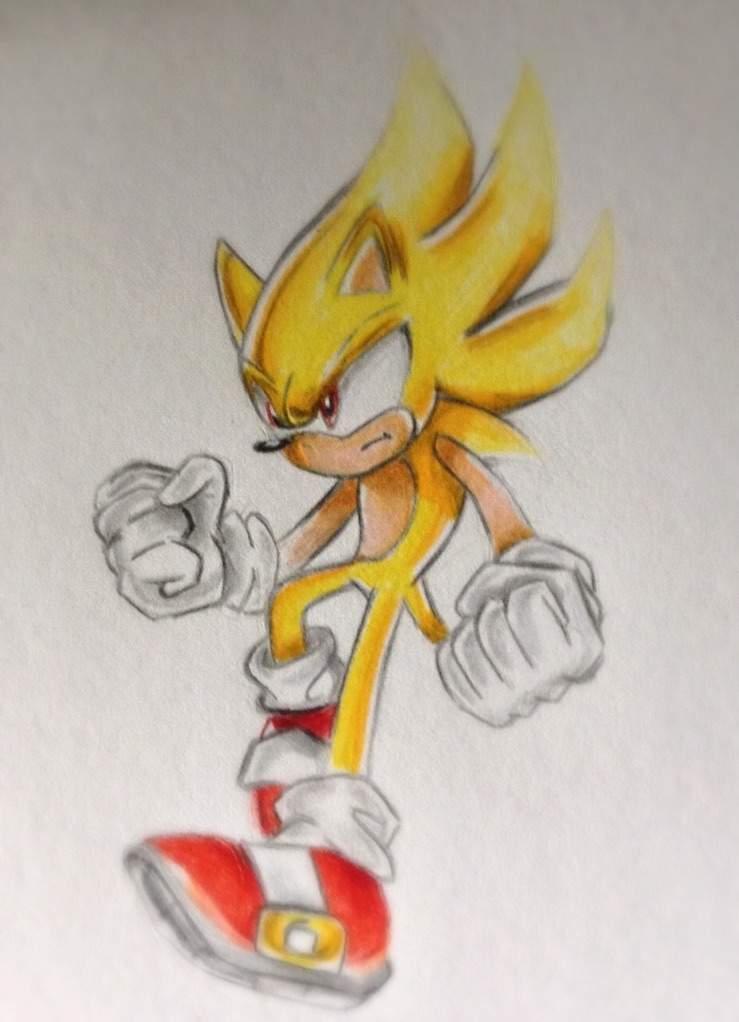Super Sonic Drawing!   Sonic the Hedgehog! Amino