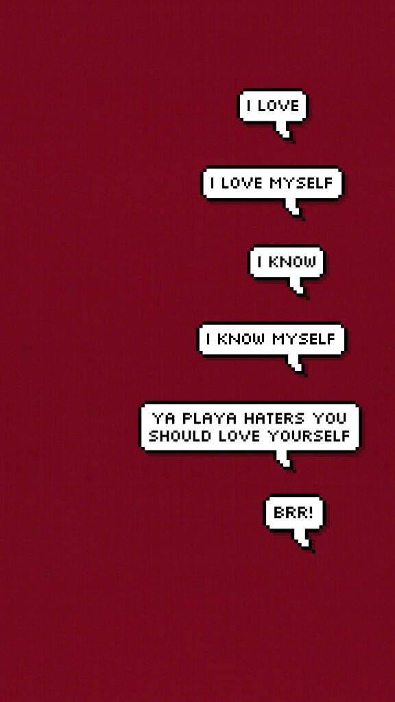 Pixel speech bubble wallpaper pt 2 army 39 s amino - Love yourself wallpaper hd ...