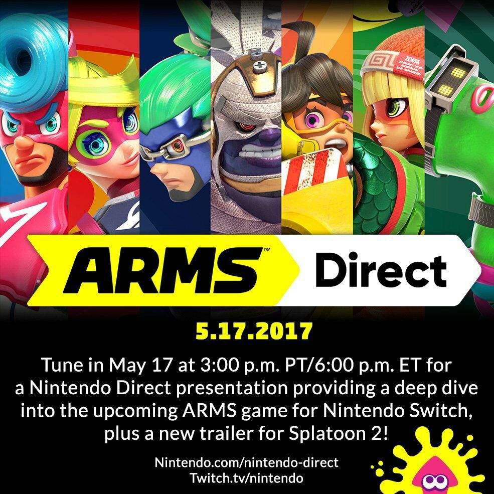 New Arms Direct Splatoon 2 Trailer Nintendo Switch Amino