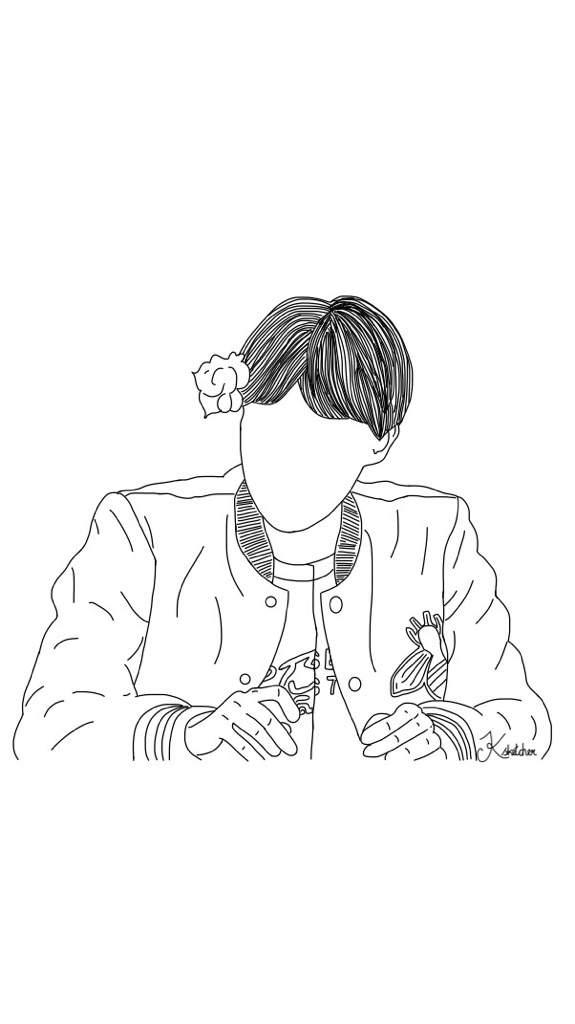 Line Art Kpop : Jhope line art k pop amino