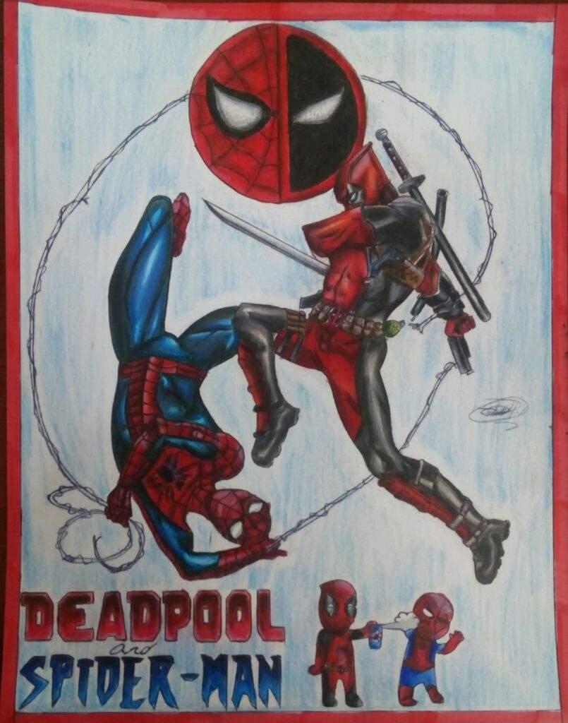 Volumen Dos De Dibujos 20 Deadpool Vs Spiderman Arte