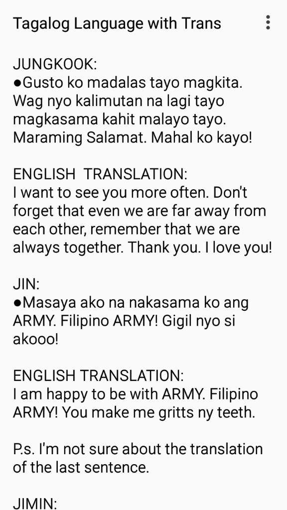 i decided to share to you what are the things they have said in tagalog