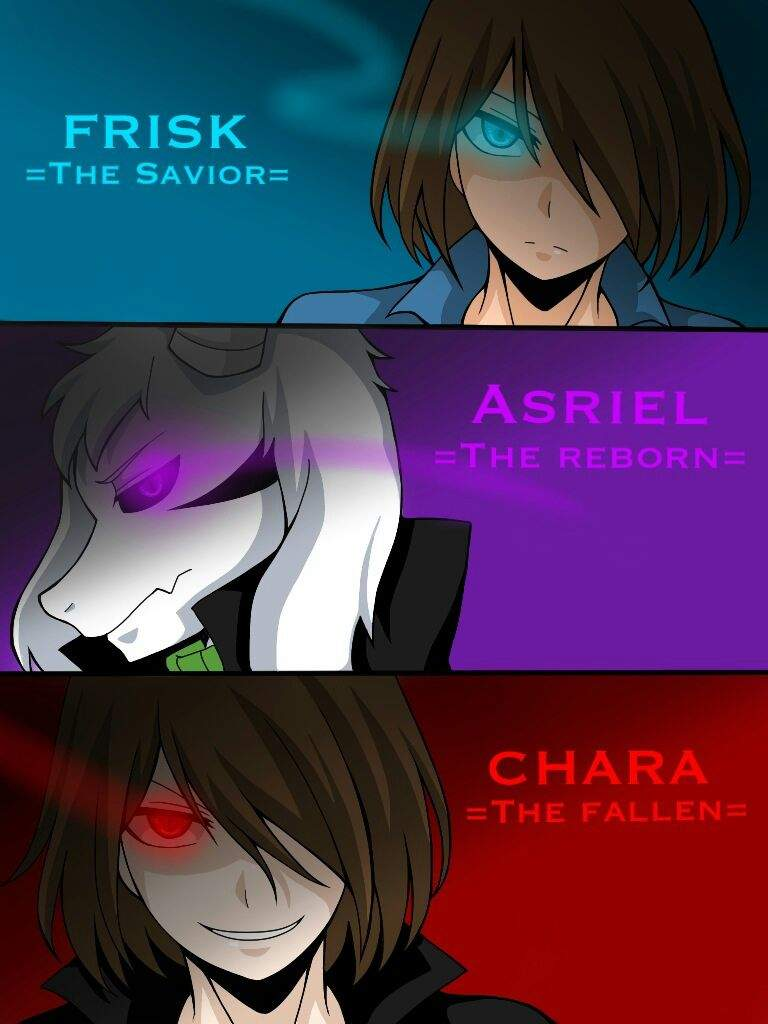 Frisk Asriel And Chara Wiki Underfell Universe Amino