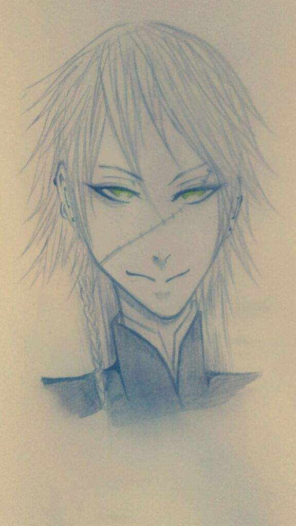 And Drew The One Only Legendary Shinigami Undertaker This Was Mainly Done With Pencil No Ink Color I Added For Eyes