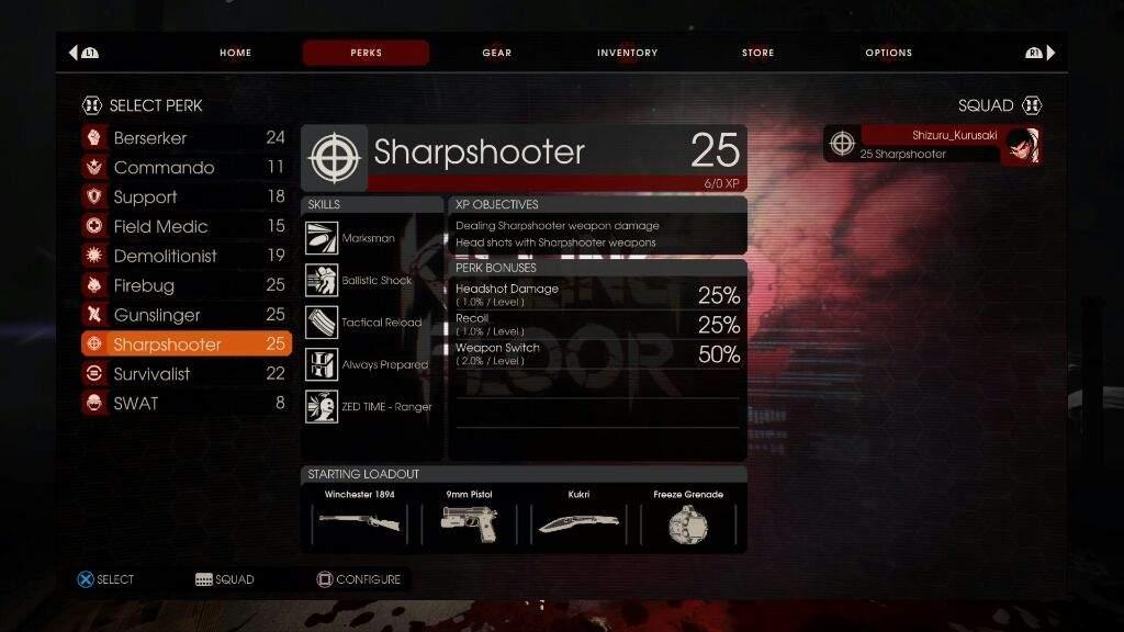 Killing Floor 2 Perk Overview The Sharpshooter Playstation Friends Amino