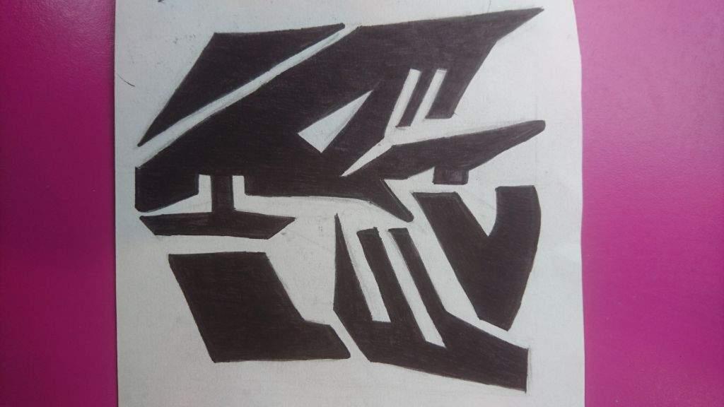 Half Decepticon Half Autobot Symbol Transformers Decepticon Amino