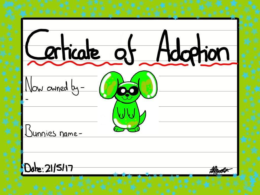 Adoption Certificate Template Splatoon Amino