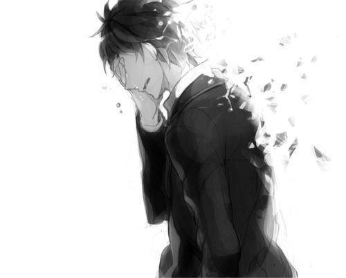 صور انمي حزين ابيض واسود امبراطورية الأنمي Amino