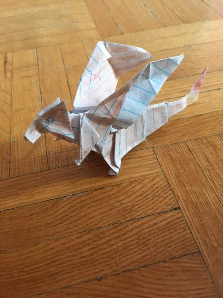 Paper Pokemon - Origami Charizard Tutorial - Intermediate version ... | 1024x768
