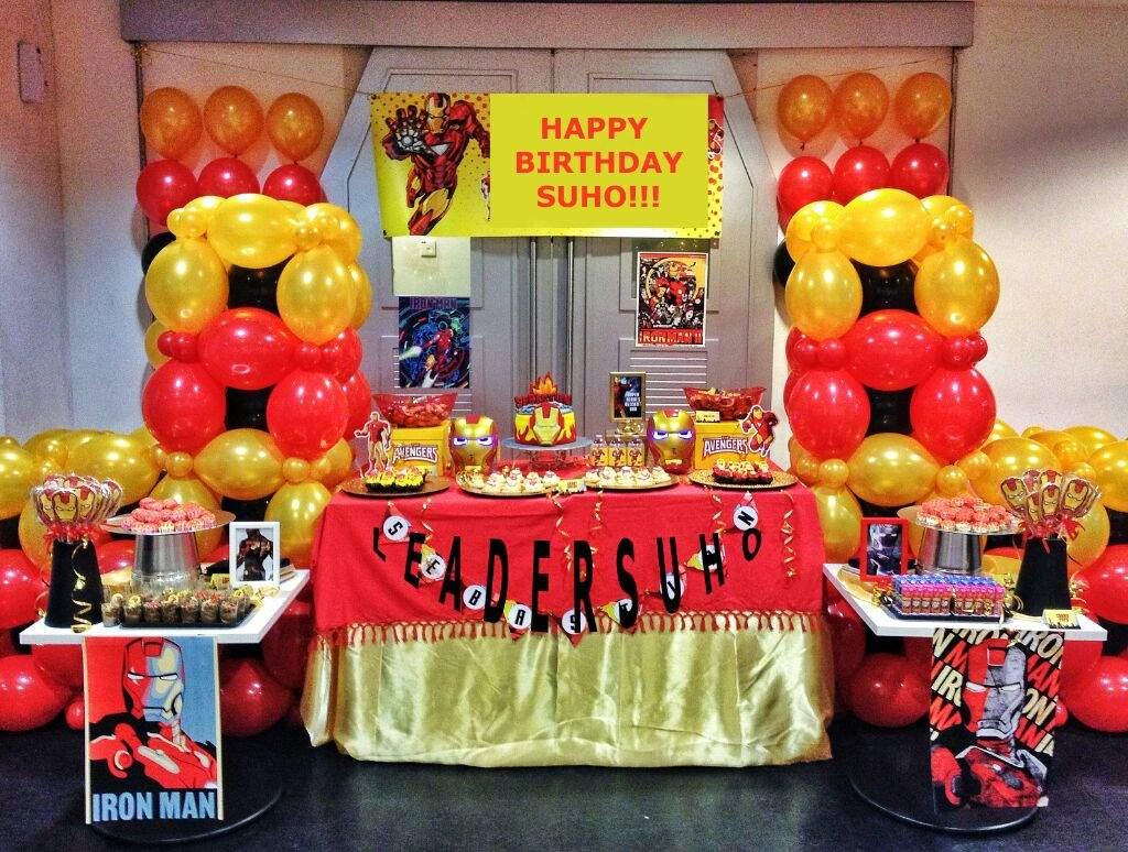 Happy Suho Day Iron Man Party Exo Amino