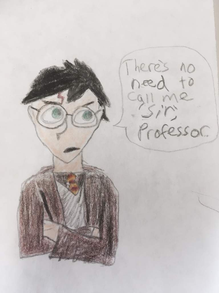 I decided to draw him saying one of the best quotes ever written in the whole history of the harry potter series