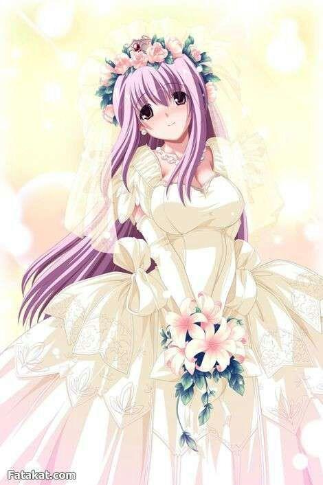 Аниме девушек в свадебных платьях