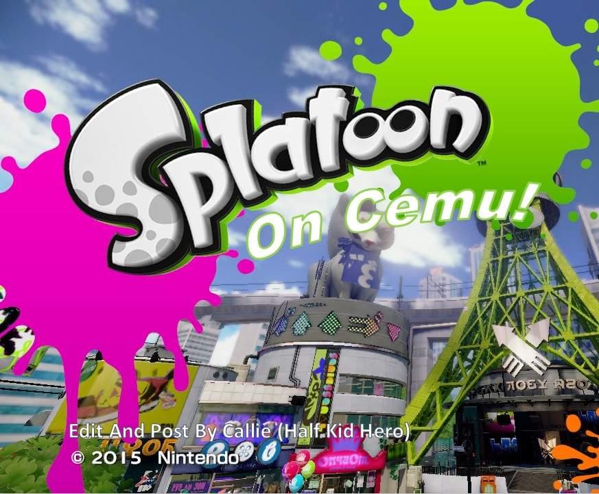 Splatoon on Cemu  How it Feels / Plays | Splatoon Amino