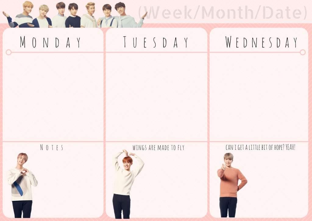 Diy Kpop Calendar : Diy bts themed planner army s amino