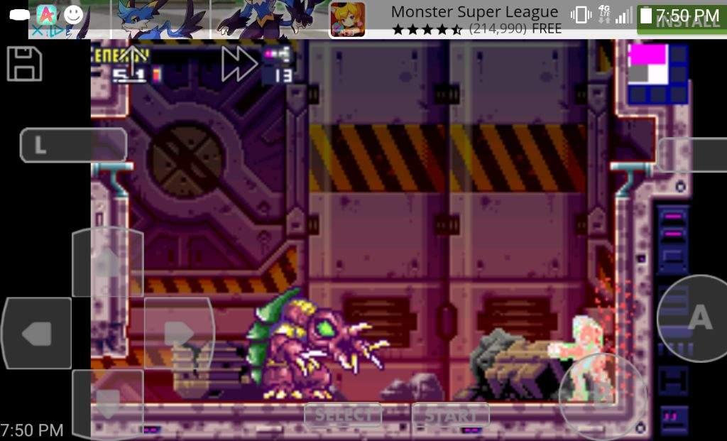 Metroid Fusion First Boss Fight Arachnus X